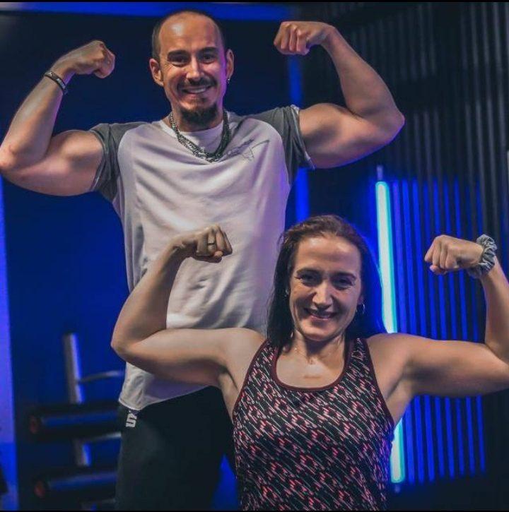 Muskelaufbau Tanja und Hermann